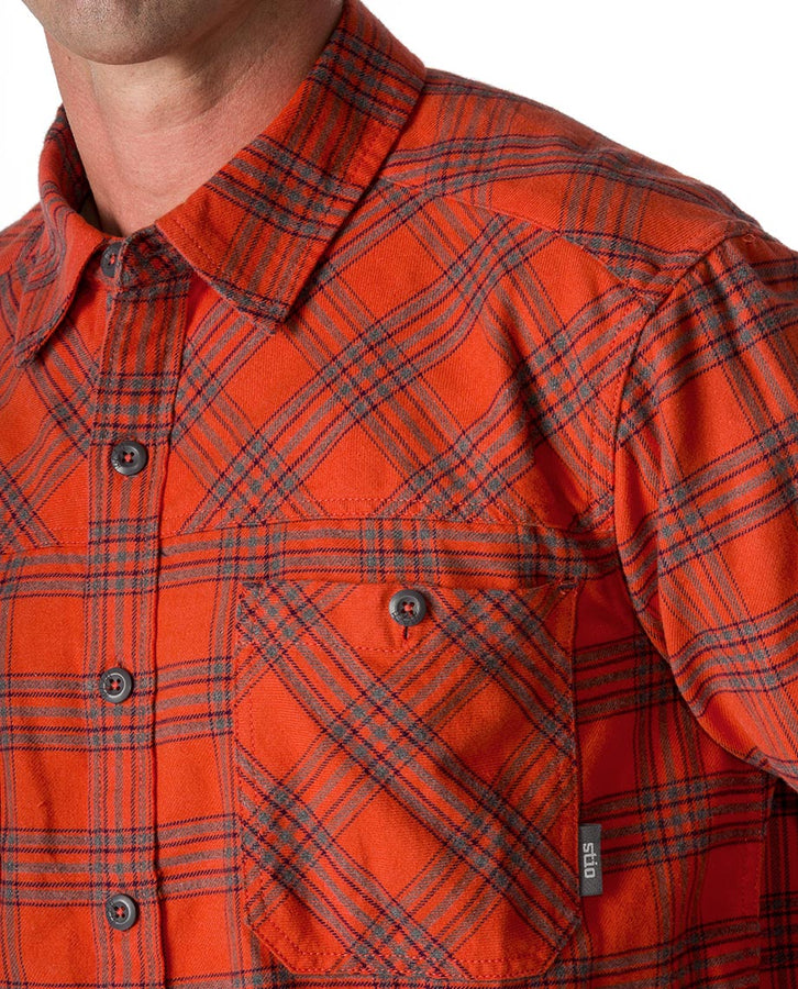 burnt orange plaid
