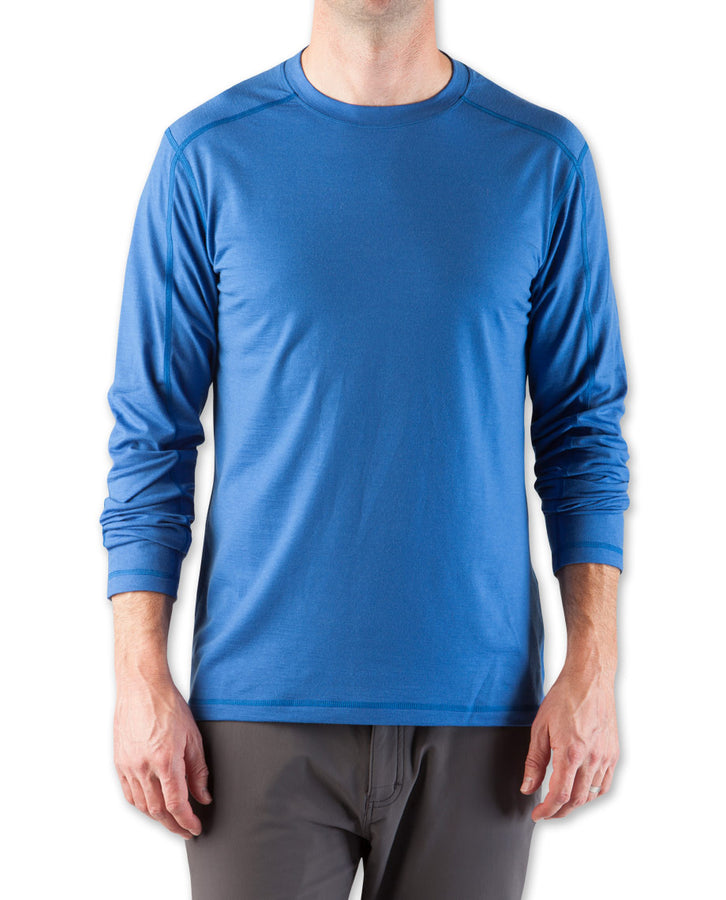 Men's Basis Stretch Merino Crew LS