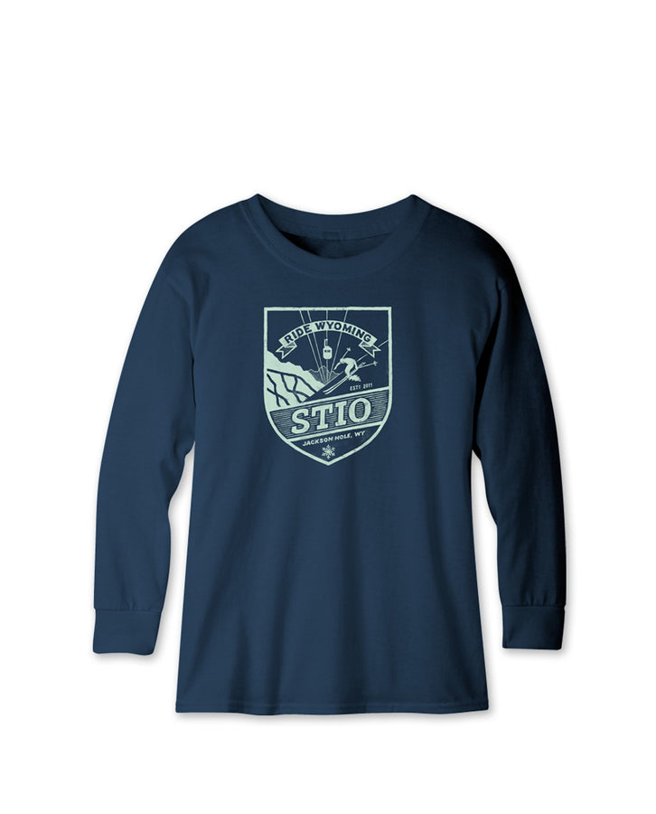 Kids' Ride Wyoming - Ski Tee