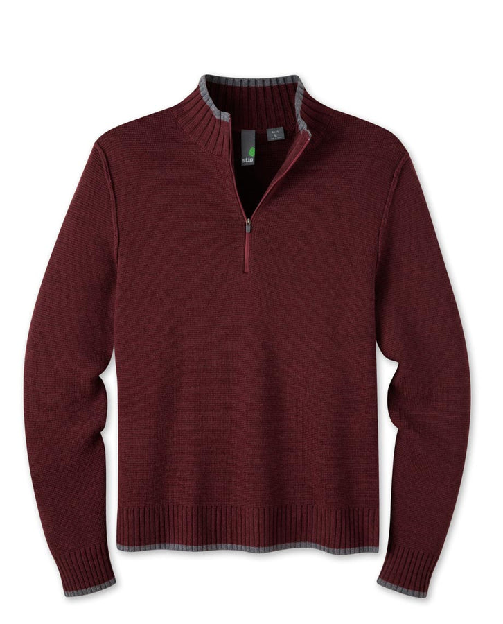 Men's Andante Half Zip Merino Sweater
