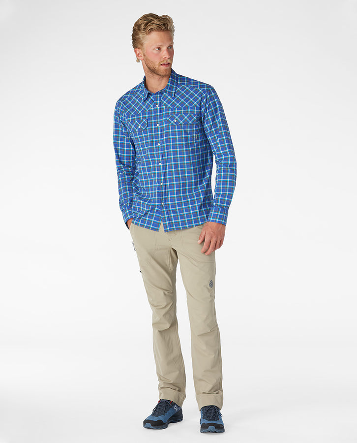 Larkspur Blue Plaid