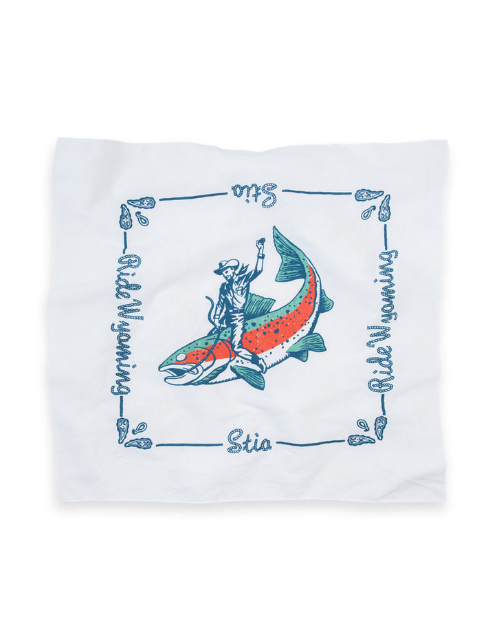 Ride Wyoming Fish Bandana