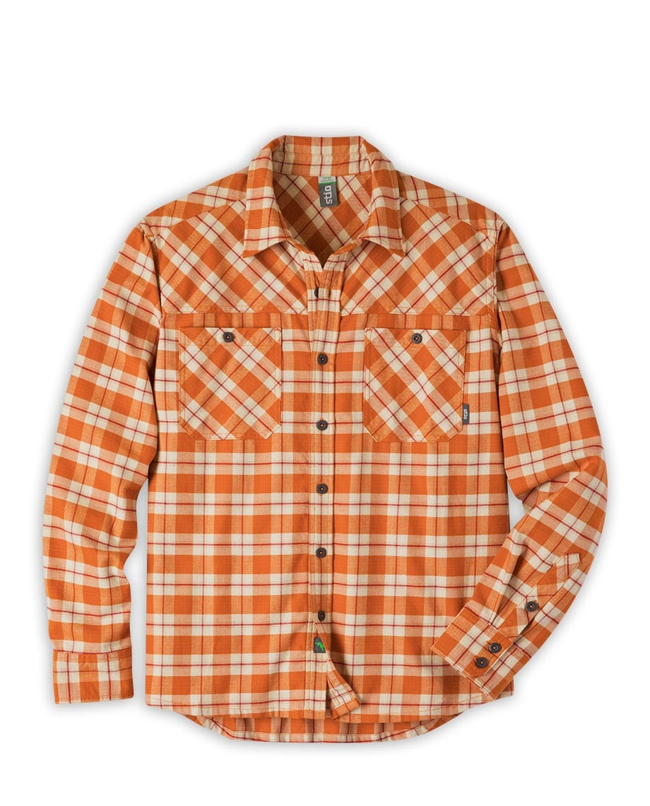 men s miter flannel shirt stio