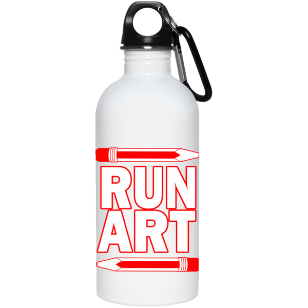 ArtichokeUSA Custom Design #1. RUN ART. 20 oz. Stainless Steel Water Bottle