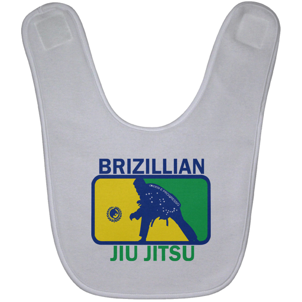Artichoke Fight Gear Custom Design #5. BJJ MLB Brazil Flag Colors. Parody v2. Baby Bib