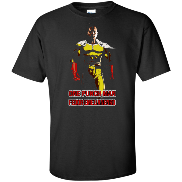 ArtichokeUSA Custom Design #58. One Punch Fedor Emelianenko. One Punch Man Parody. Tall 100% Cotton T-Shirt