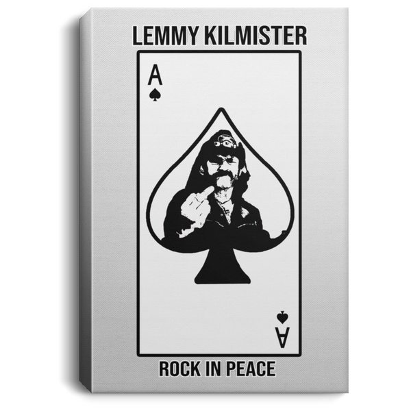 ArtichokeUSA Custom Design #59. Motorhead's Lemmy Kilmister Tribute. RIP. Rock In Peace.  Portrait Canvas .75in Frame