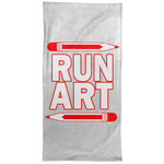 ArtichokeUSA Custom Design #1. RUN ART. Hand Towel - 15x30
