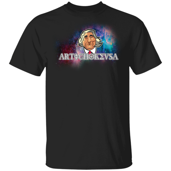 ArtichokeUSA Character and Font design #19. Michio Kaku Fan Art. Let's Create Your Own Design Today. 100% Cotton T-Shirt
