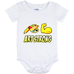 ArtichokeUSA custom design #6. Art Strong. Baby Onesie 12 Month