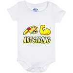 ArtichokeUSA custom design #6. Art Strong. Baby Onesie 6 Month