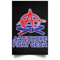 Artichoke Fight Gear Custom Design #4. Eat. Sleep. BJJ/Create Your Own Custom Design Repeat. BJJ Satin Portrait Poster