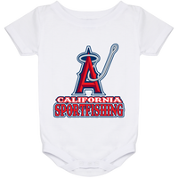 ArtichokeUSA Custom Design #4. California Anglers.California Sportsfishing. Angels of Anaheim from Orange County in California Parody. Baby Onesie 24 Month