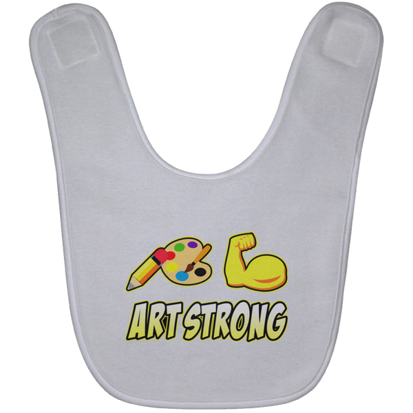 ArtichokeUSA custom design #6. Art Strong. Baby Bib