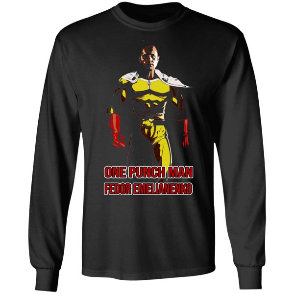 ArtichokeUSA Custom Design #58. One Punch Fedor Emelianenko. One Punch Man Parody. 100% Cotton Long Sleeve T-Shirt