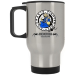 Artichoke Fight Gear Custom Design #1. Arachnophobia. It's A Jiu Jitsu Thing. Spider Guard. BJJ. Silver Stainless Travel Mug