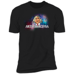 ArtichokeUSA Character and Font design #19. Michio Kaku Fan Art. Let's Create Your Own Design Today. Ultra Soft 100% Combed Cotton T-Shirt