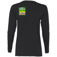 ArtichokeUSA Custom Design #9. Hooked (On Gaming) Since 1983. Activision Parody. Ladies' 100% Cotton Long Sleeve T-Shirt