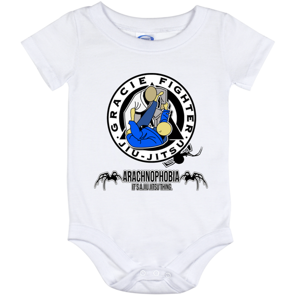 Artichoke Fight Gear Custom Design #1. Arachnophobia. It's A Jiu Jitsu Thing. Spider Guard. BJJ. Baby Onesie 12 Month