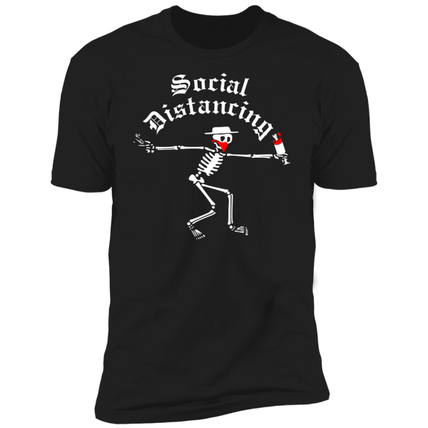 ArtichokeUSA Custom Design #53. Social Distancing. Social Distortion Parody. Ultra Soft Cotton T-Shirt