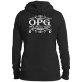 OPG Custom Design #00. OPG - One Putt Golf.  Front and Back Design. Ladies' Pullover Hoodie