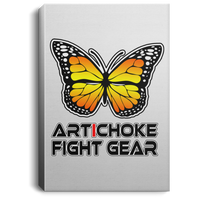 Artichoke Fight Gear Custom Design #7. Lepidopterology: The study of butterflies and moths. Butterfly Guard. It's a Jiu Jitsu Thing. Brazilian Edition. Portrait Canvas .75in Frame