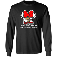 ArtichokeUSA Custom Design #51. These are a few of my favorite things. SF 49ers/Hello Kitty/Mickey Mouse Fan Art. 100% Cotton Long Sleeve T-Shirt