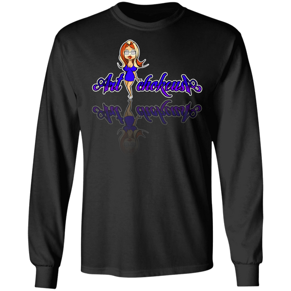 ArtichokeUSA Character and Font Design #2. Friends, Clients, and People of Earth. Let's Create Your Own Design Today. Long Sleeve 100% Cotton T-Shirt