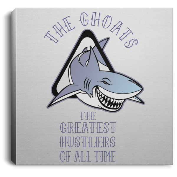 The GHOATS custom design #41. Big Game Take Little Game. Pool/Billiards. Square Canvas .75in Frame