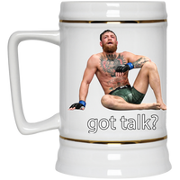 Artichoke Fight Gear Custom Design #12. Got Talk? MMA.  Beer Stein 22oz.