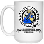 Artichoke Fight Gear Custom Design #1. Arachnophobia. It's A Jiu Jitsu Thing. Spider Guard. BJJ. 15 oz. White Mug