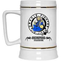 Artichoke Fight Gear Custom Design #1. Arachnophobia. It's A Jiu Jitsu Thing. Spider Guard. BJJ. Beer Stein 22oz.