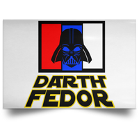 Artichoke Fight Gear Custom Design #15. Darth Fedor. Fedor Emelianenko / Darth Vader Parody. Fan Art Parody. MMA. Satin Landscape Poster