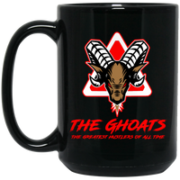 The GHOATS custom design #7. The Best Offence Is A Good Defense. Pool/Billiards. 15 oz. Black Mug