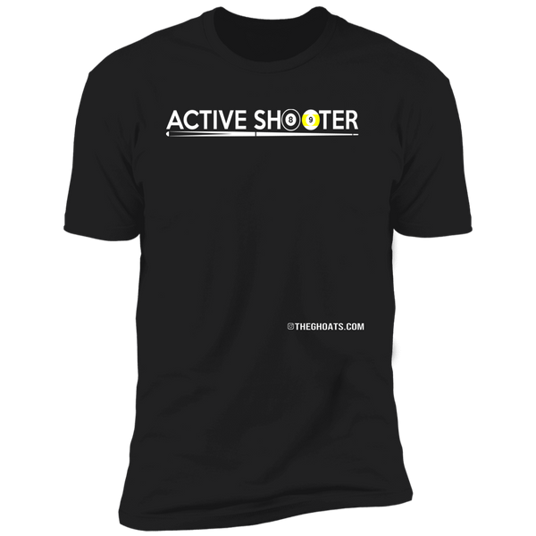 The GHOATS Custom Design #1. Active Shooter. Next Level Ultra Soft Fitted T-Shirt