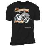 The GHOATS Custom Design #3. Beware of Sharks. Pool/Card Shark. Next Level Ultra Soft Fitted T-Shirt