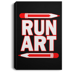 ArtichokeUSA Custom Design #1. RUN ART. Portrait Canvas .75in Frame
