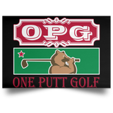 OPG Custom Design #8. Golf Southern California. All Year Long Baby!! Satin Landscape Poster