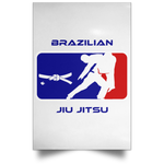 Artichoke Fight Gear Custom Design #2. BJJ MLB Parody v1. Satin Portrait Poster