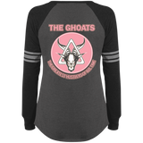 The GHOATS Custom Design #8. Eat Sleep Play 8 ball Play 9 ball Repeat. Ladies' Sports Team Style V-Neck Long Sleeve