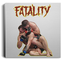Artichoke Fight Gear Custom Design #11. Fatality. Mortal Kombat Parody. MMA.  Square Canvas .75in Frame