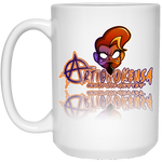 ArtichokeUSA Character and Font Design #1. Let's Create Your Own Design Today. 15 oz. White Mug
