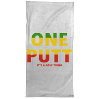 OPG Custom Design #14. ONE PUTT. ONE LOVE v2 Parody. Golf. Hand Towel - 15x30