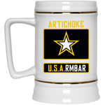 Artichoke Fight Gear Custom Design #8. ArtichokeUSArmbar. US Army Parody. Beer Stein 22oz.
