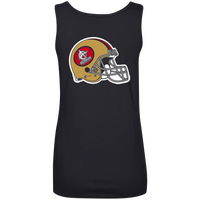 ArtichokeUSA Custom Design #50. 9ers Love. SF 49ers Fan Art. Let's Make Your Own Custom Team Shirt. Ladies' Ultra Soft Cotton Tank Top