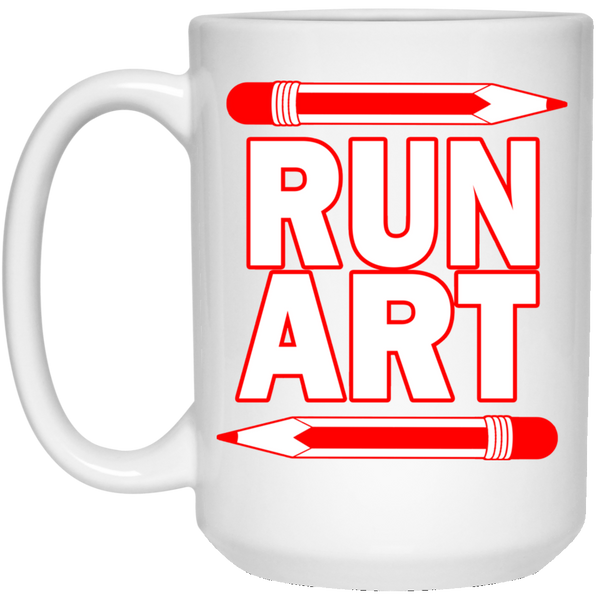 ArtichokeUSA Custom Design #1. RUN ART. 15 oz. White Mug