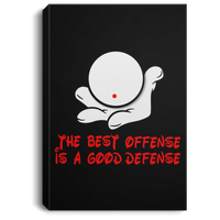 The GHOATS custom design #7. The Best Offence Is A Good Defense. Pool/Billiards. Portrait Canvas .75in Frame