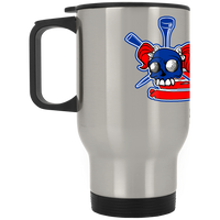 OPG Custom Design #16. Golf America. Female Skull Design. Golf. Silver Stainless Travel Mug