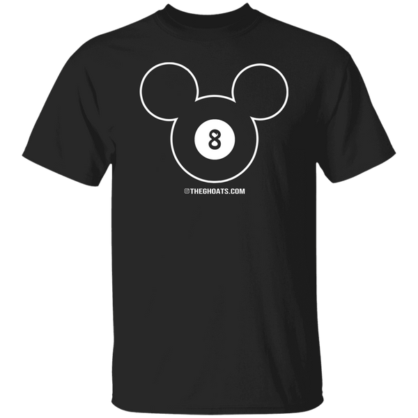 The GHOATS Custom Design #19. Look at the back. Mickey Hustle. Mickey Fan Art. Basic 100% Cotton T-Shirt