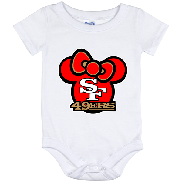 ArtichokeUSA Custom Design #51. Hello 49ers. SF 49ers/Hello Kitty Parody. TV Sports.  Baby Onesie 12 Month